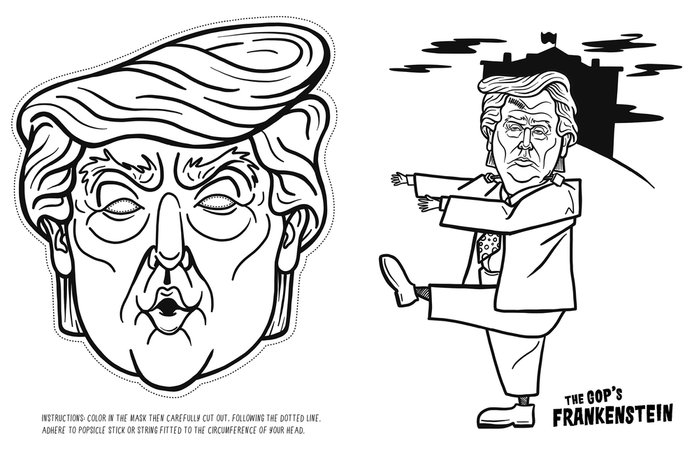 Erase the President: 5 Anti-Trump Colouring Books
