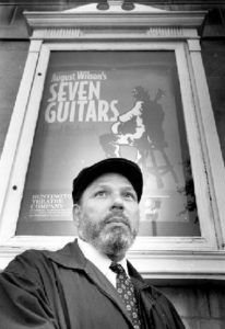 Playwright August Wilson as photographed by John D. Kisch in 1995. Getty Images and the NYT