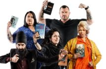 The Canada Reads debates will take place March 27–30, 2017. This year's literary defenders are, clockwise from top left, Candy Palmater, Jody Mitic, Measha Brueggergosman, Chantal Kreviazuk and Humble the Poet. (CBC)