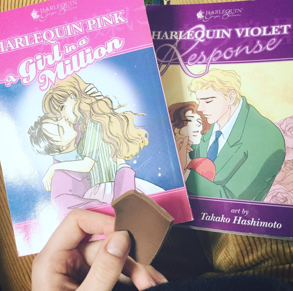 Harlequin Ginger Blossom romance manga, Dark Horse, photo by Claire Napier