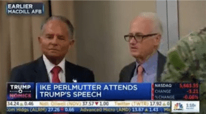 Perlmutter with Trump, screen cap via The Beat