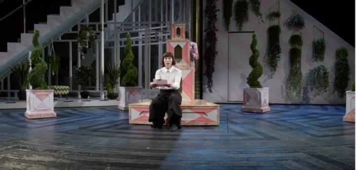 Tamsin Greig as Malvolia - National Theatre's Twelfth Night - 2017