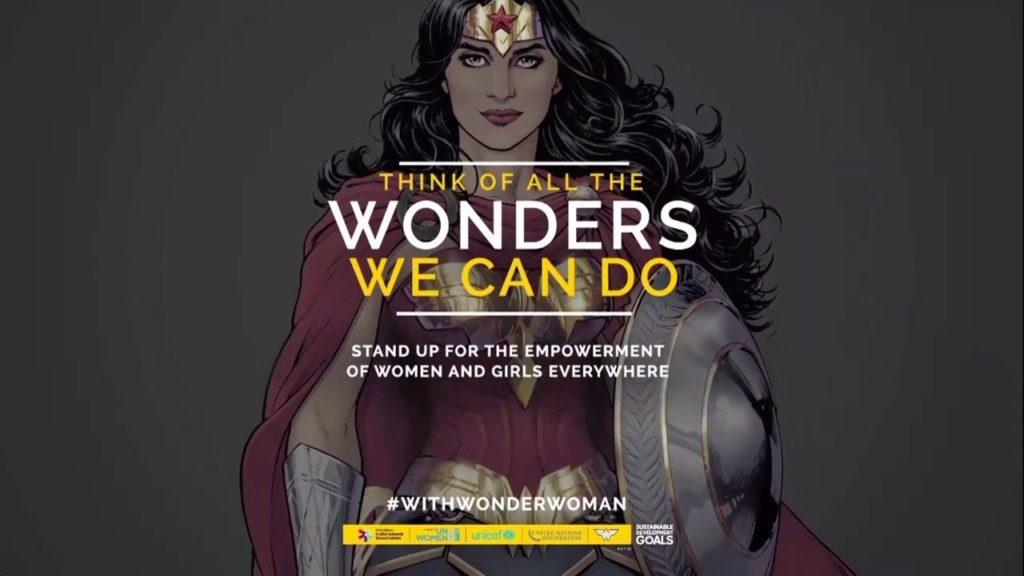 The UN Wonder Woman Sustainable Development Goals Campaign Poster, art by Nicola Scott.