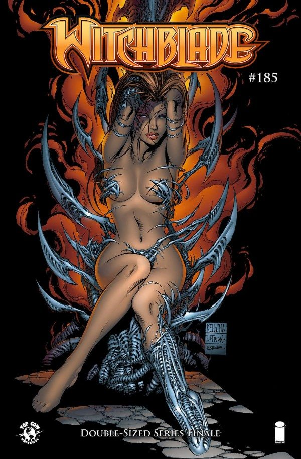 Witchblade 185 cover, Top Cow 2015, Keu Cha & D-Tron