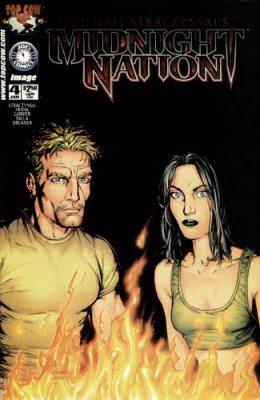 Midnight Nation #4 cover, Top Cow, Written by J. Michael Straczynski; Penciller: Gary Frank; Inkers: Johnathan Sibal, Jason Gorder, Jay Leisten; Colorist Matt Milla