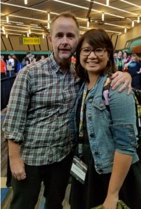 Actor BIlly Boyd with the author