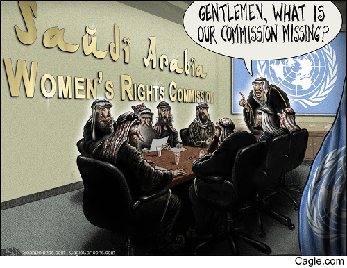 """Saudi Arabia Womens Rights Commission"" by Sean Delonas"
