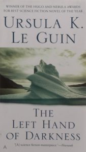 """""""The Left Hand of Darkness,"""" by Ursula K. Le Guin. Cover art by Judith Murello. The Berkley Publishing Group"""