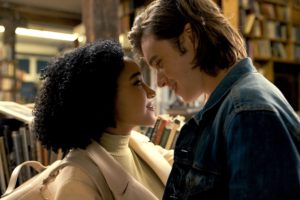 Characters embracing from Nicola Yoon's novel Everything,Everything taken from an Entertainment Weekly article.