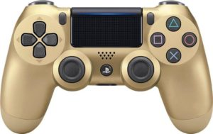 Gold DualShock controller. Photo: Best Buy