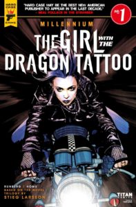Girl with the dragon tattoo, Titan comics, 2017