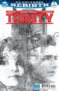 Trinity #11, Cover by Bill Sienkiewicz, published by Vertigo. 2017.