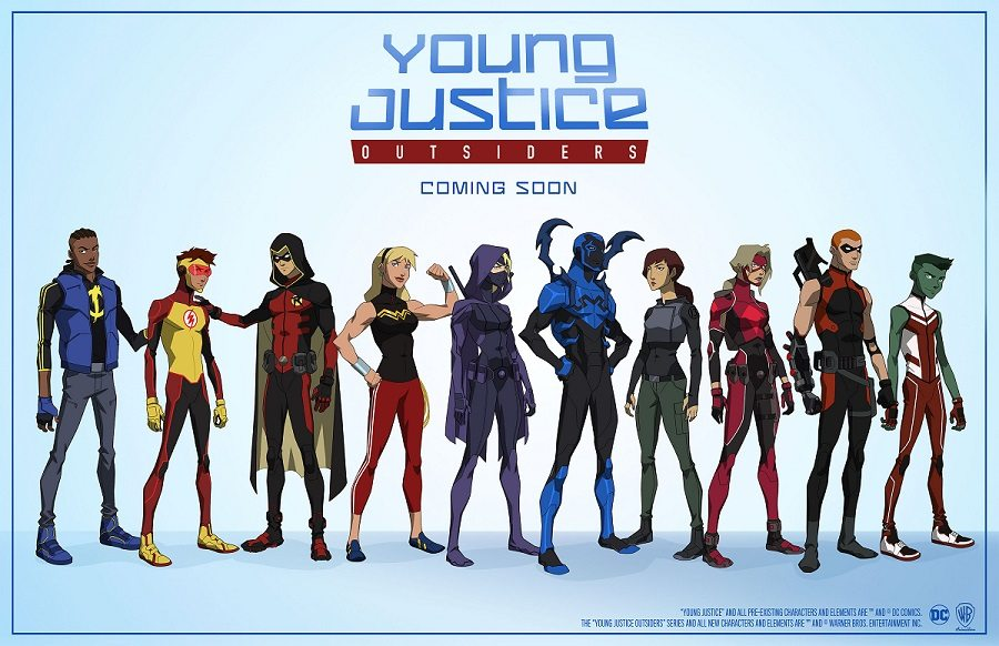 Some of the characters from Young Justice Season Three