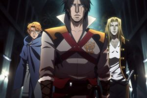 Castlevania First episode date: July 7, 2017 Network: Netflix Written by: Warren Ellis Executive producers: Adi Shankar, Fred Seibert, Kevin Kolde, Larry Tanz