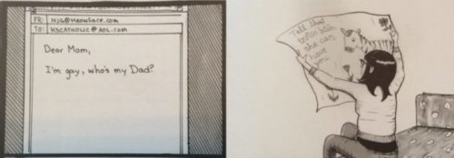 """Nicole Georges' """"Calling Dr. Laura,"""" Alison Bechdel's """"Fun Home,"""" Graphic Memoir, and Something Strange About Time"""