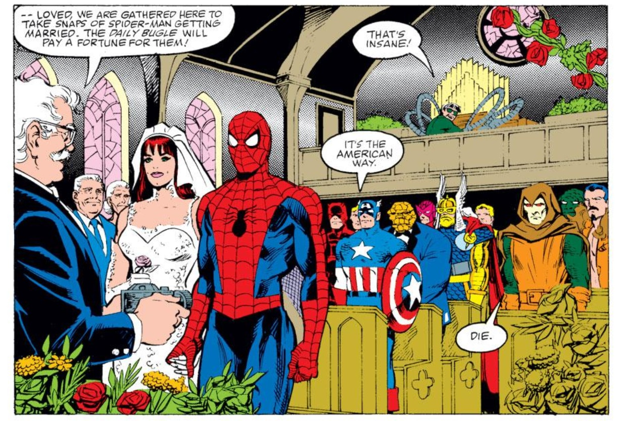 The Wedding Issue: Mary Jane Watson and Peter Parker - WWAC
