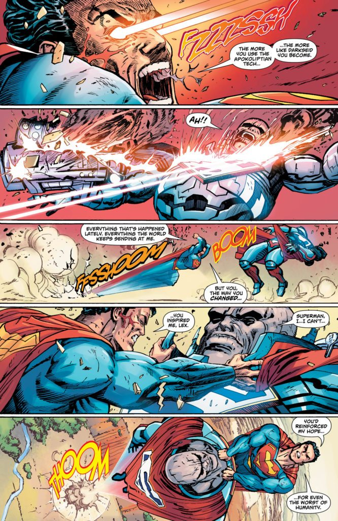 Action Comics #986: written by Rob Williams, art by Guillem March, color by Hi-Fi, letters by Rob Leigh