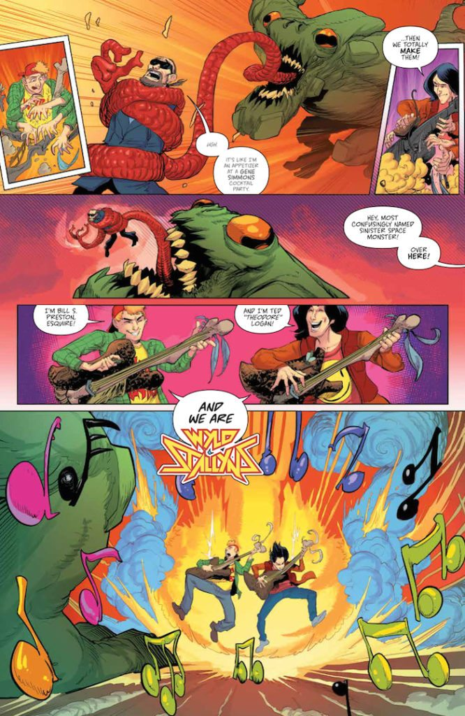 Bill & Ted Save the Universe 003 Bill & Ted Save the Universe #3 Publisher: BOOM! Studios Writer: Brian Joines Artist: Bachan