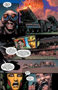 Jack Kirby: The Black Racer and Shilo Norman #1: written by Reginald Hudlin, pencils by Denys Cowan and Ryan Benjamin, inks by Bill Sienkiewicz and Richard Friend, colors by Jeromy Cox, letters by Janice Chiang