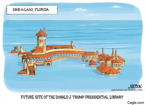 """Future Site of Donald J. Trump Presidential Library,"" R.J. Matson via Cagle.com"
