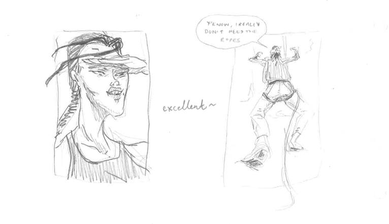 David & Lara, Metal Gear Tomb Raider crit comic, Claire Napier, 2017