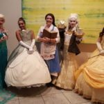 Elsa (Frozen), Tiana (The Princess and the Frog), Belle and Lumiere and Belle (Beauty and the Beast), Dragon Con 2017