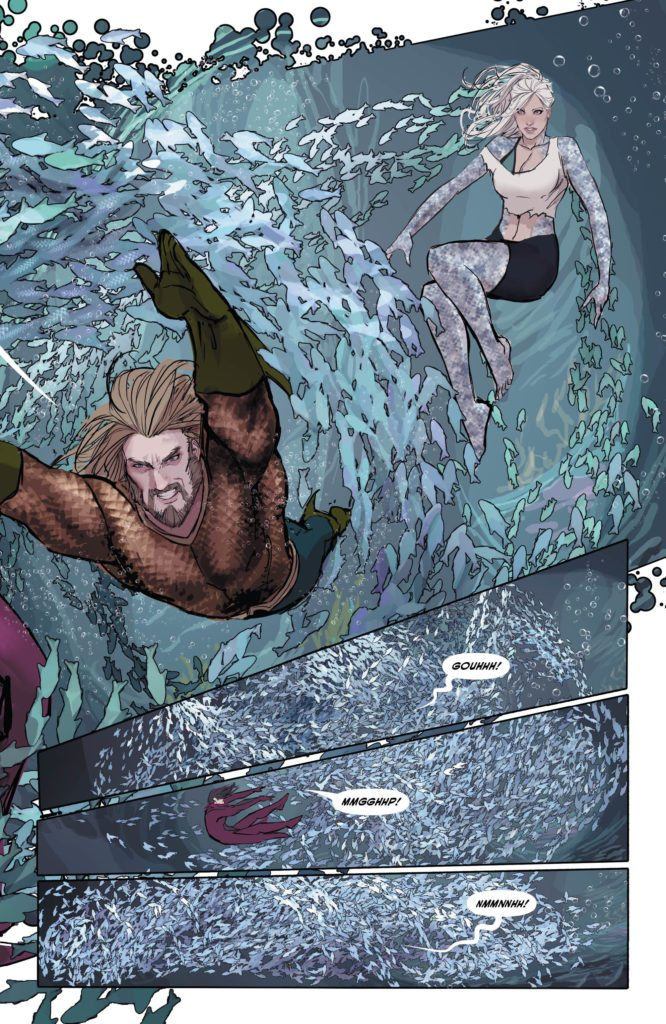 Aquaman #28: written by Dan Abnett; art, color, and cover by Stjepan Sejic, lettering by Steve Wands