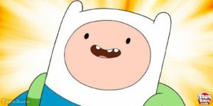Finn the Human in Adventure Time on Cartoon Network