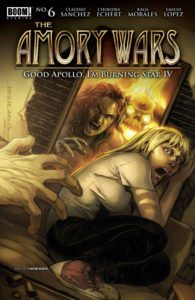 The Amory Wars: Good Apollo, I'm Burning Star IV #6 (of 12) Publisher: BOOM! Studios Writers: Claudio Sanchez & Chondra Echert Artist: Rags Morales Cover Artist: Rags Morales