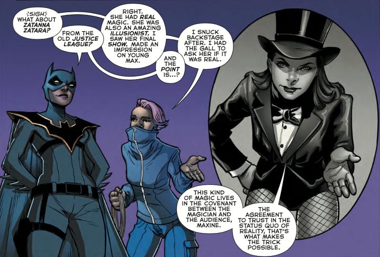 Batman Beyond #12. September 27, 2017. DC Comics. Written by Vita Ayala & Steve Orlando. Pencils by Siya Oum. Inks by Dexter Vines. Colours by Tony Aviña. Letters by Travis Lanham.