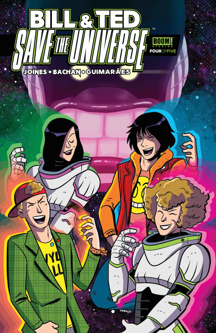 Bill & Ted Save the Universe #4 Publisher: BOOM! Studios Writer: Brian Joines Artist: Bachan Cover Artist: Derek Charm