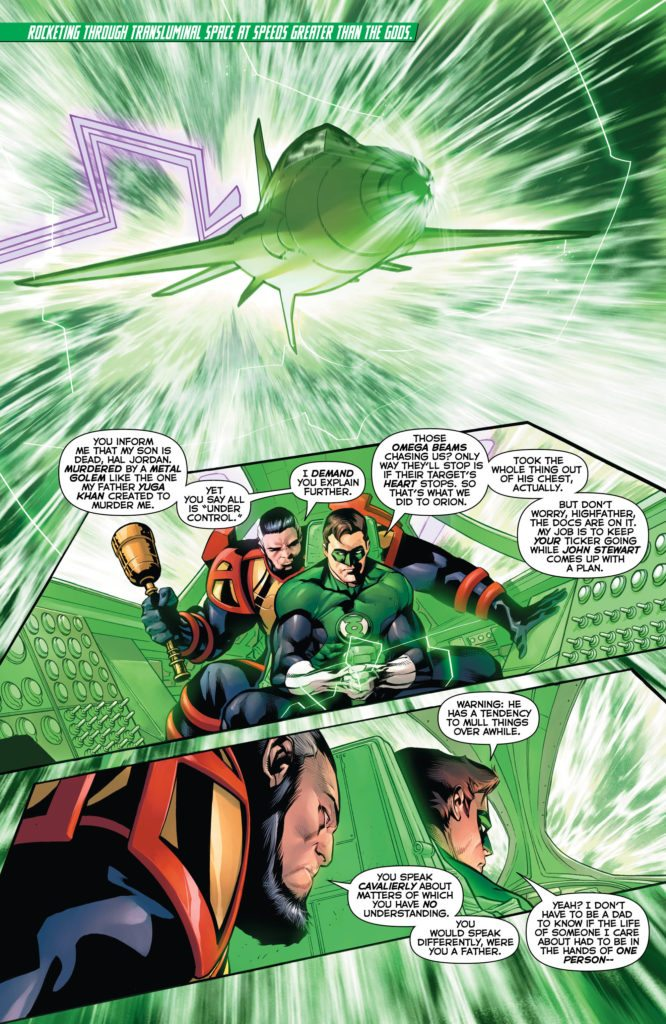 Hal Jordan and the Green Lantern Corps #29: written by Robert Venditti, pencils by Rafa Sandoval, inks by Jordi Tarragona, colors by Tomeu Morey, letters by Dave Sharpe