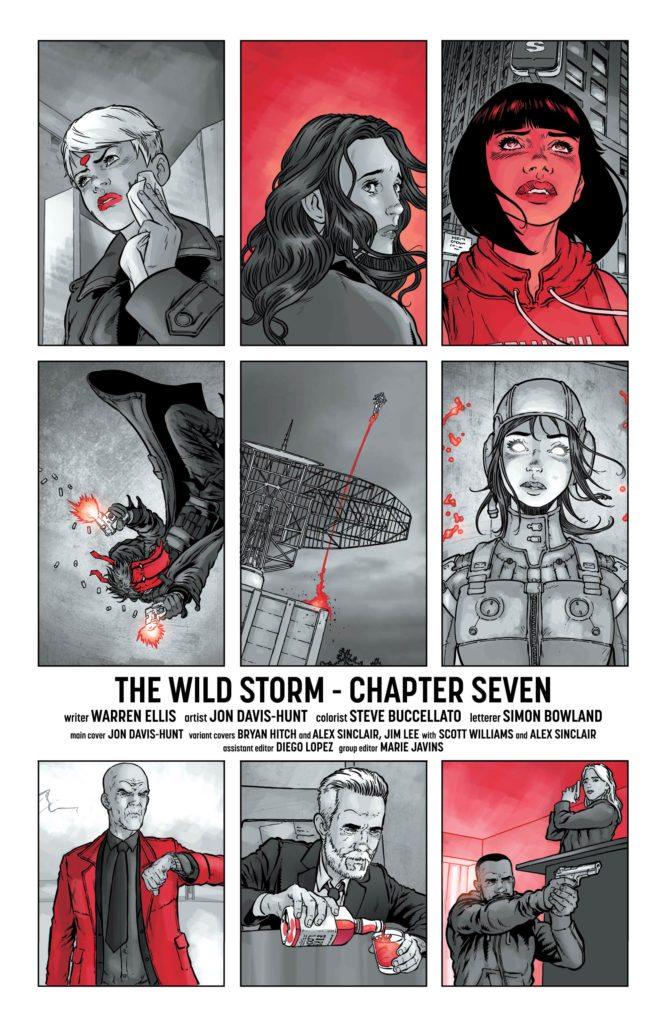 The Wild Storm #7: written by Warren Ellis, art by Jon Davis-Hunt, colors by Steve Buccellato, letters by Simon Bowland