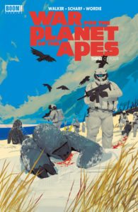 Mikhail Borulko, cover of WAR FOR THE PLANET OF THE APES #3 (OF 4)