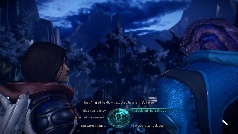 Mass Effect: Andromeda/EA/2017/Jaal's first romance scene