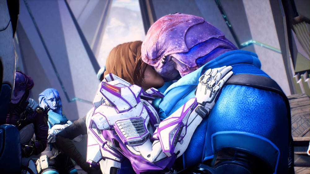 Mass Effect: Andromeda/EA/2017/Jaal's first romance scene