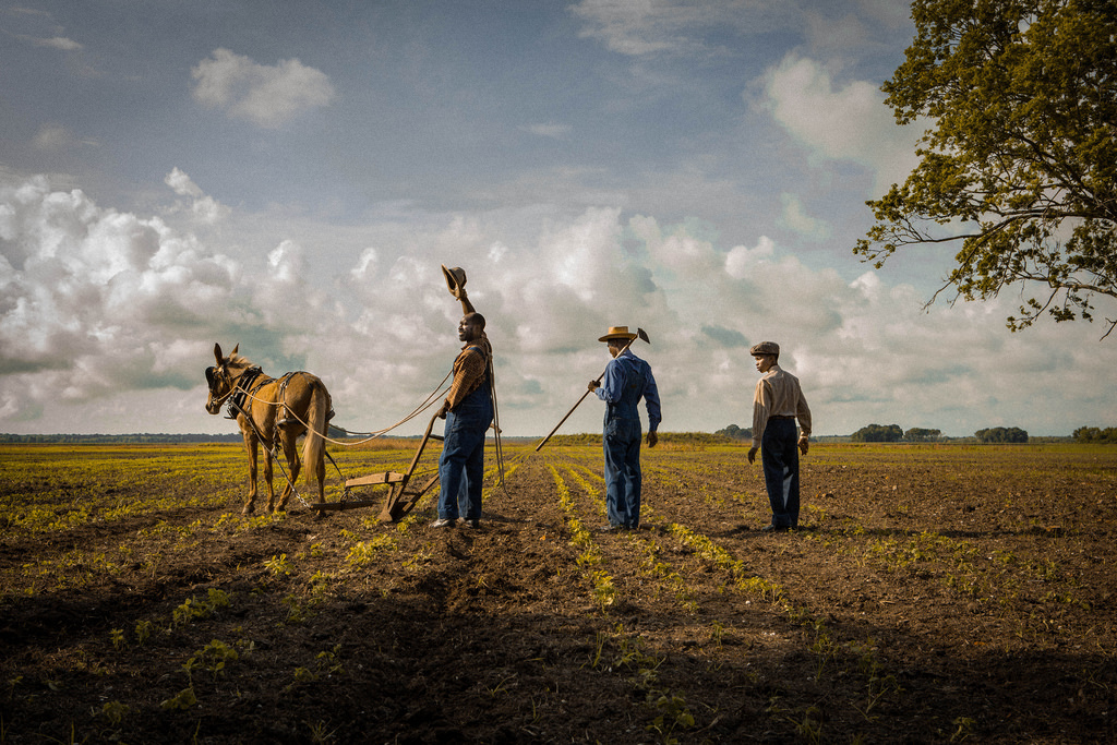 The Jackson boys at work in the fields