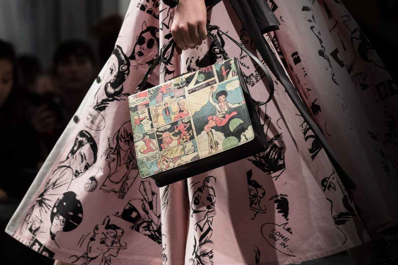 Prada touts comics with their new fashion line