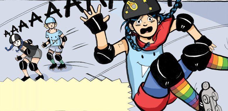 Astrid learns to skate in Roller Girl