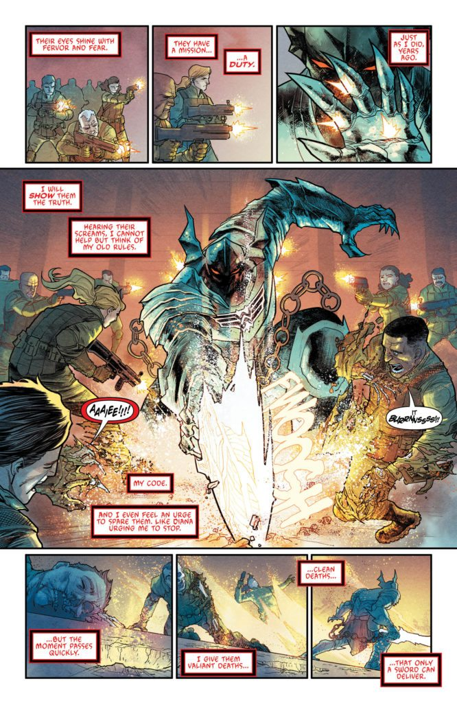 Batman The Merciless #1: story and words by Peter J Tomasi, art by Francis Manapul, letters by Tom Napolitano