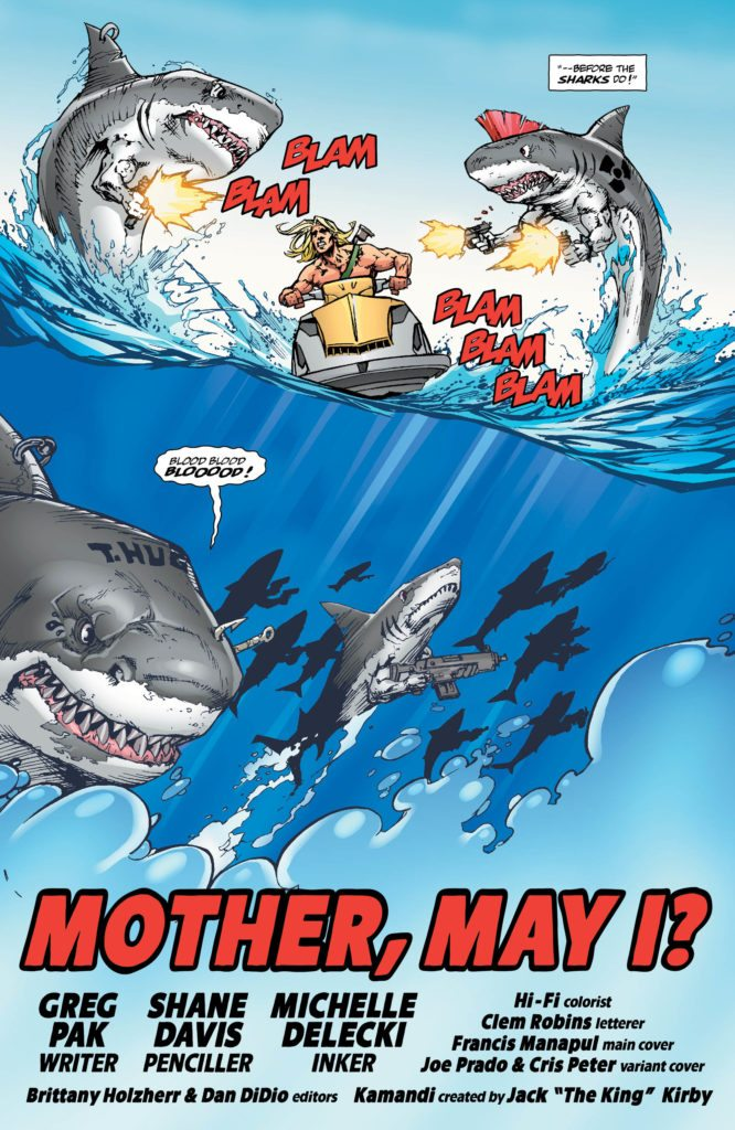 The Kamandi Challenge #10: written by Greg Pak, pencils by Shane Davis, inks by Michelle Deleki, colors by Hi-Fi, letters by Clem Robins