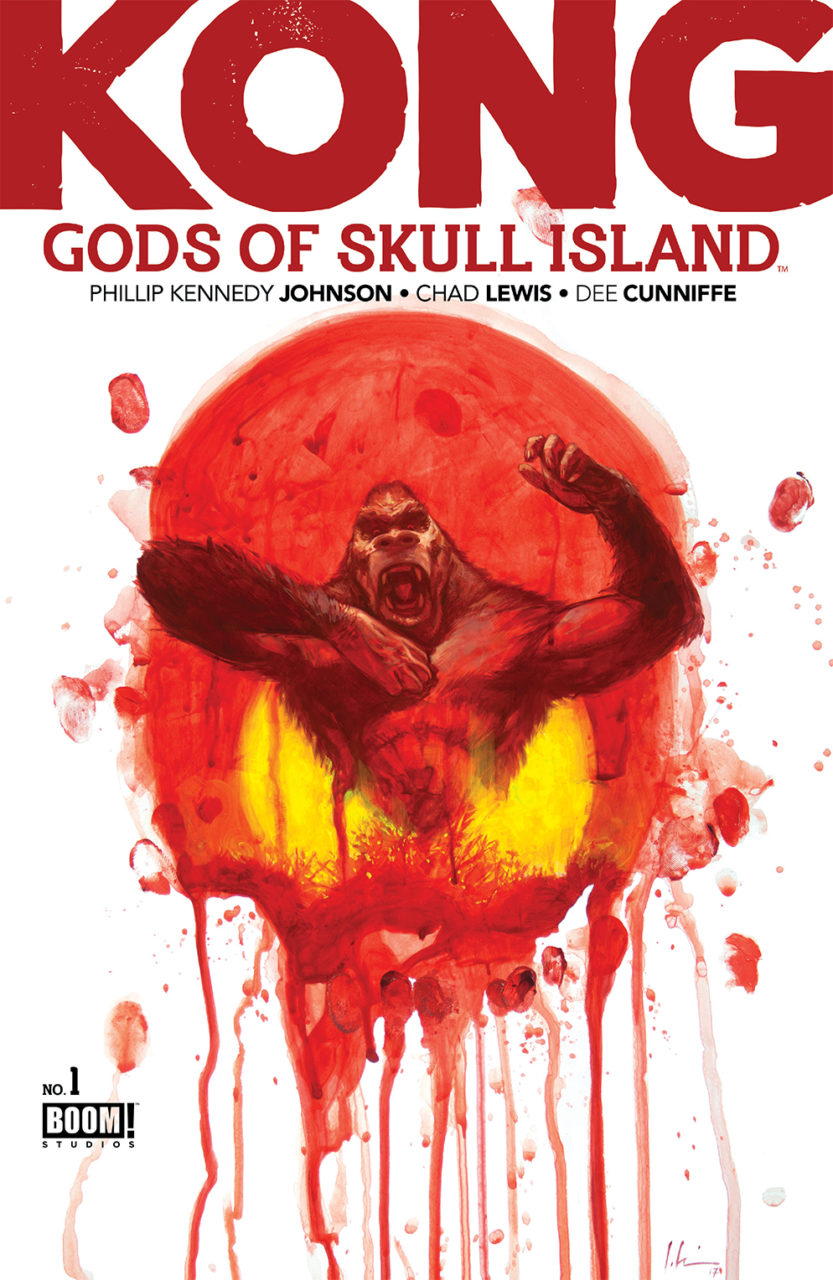 Kong: Gods of Skull Island #1 Publisher: BOOM! Studios Writer: Phillip Kennedy Johnson Artist: Chad Lewis Cover Artists:        Main Cover: Jeremy Wilson      Incentive Cover: Tyler Jenkins