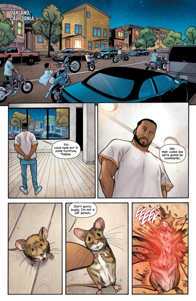 Michael Cray #1: written by Bryan Hill, pencils by N. Steven Harris, inks by Dexter Vines, colors by Steve Buccellato, letters by Simon Bowland