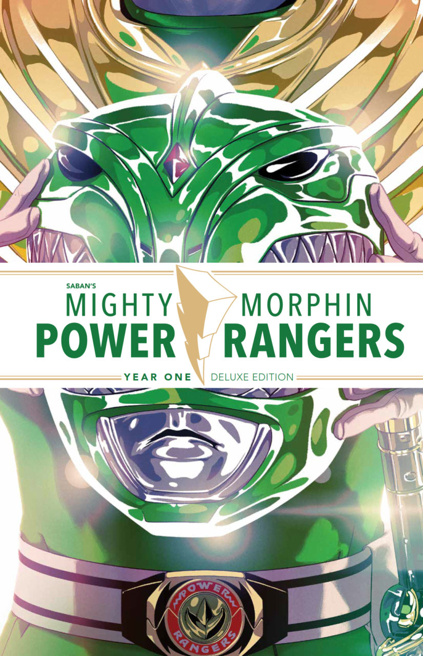 Mighty Morphin Power Rangers Year One Deluxe HC Publisher: BOOM! Studios Writers: Kyle Higgins, Steve Orlando, Mairghread Scott Artists: Hendry Prasetya, Thony Silas, Jonathan Lam, Daniel Bayliss, Corin Howell Cover Artist: Goñi Montes