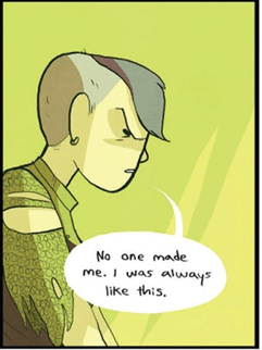Panel from Nimona by Noelle Stevenson