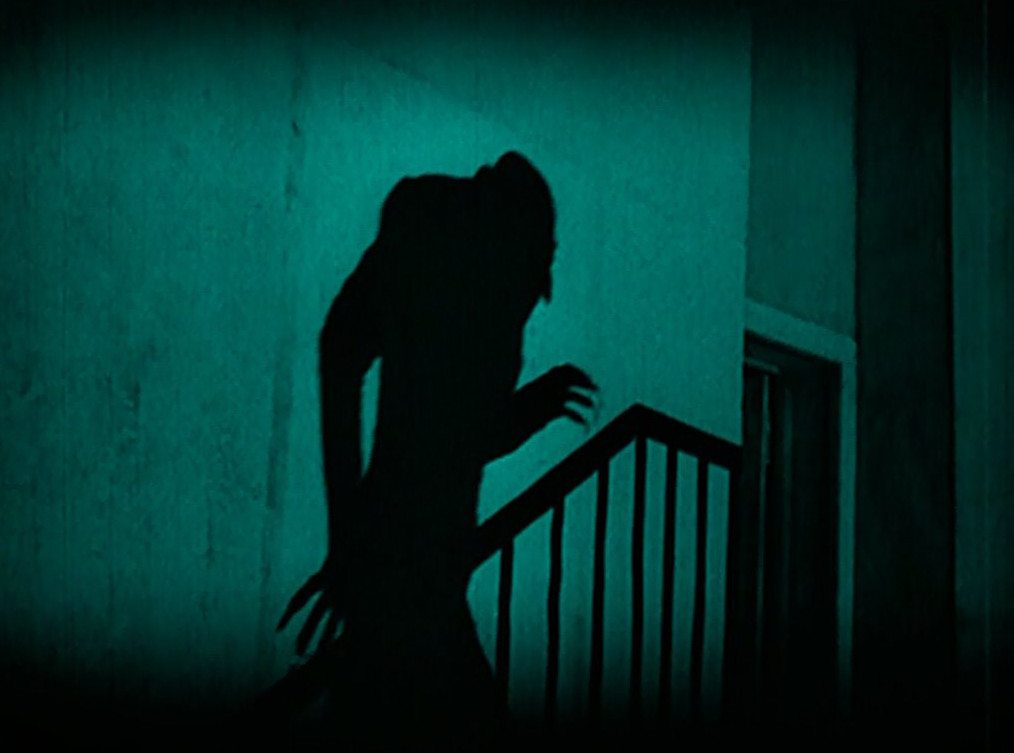 Orlok's shadow in Nosferatu