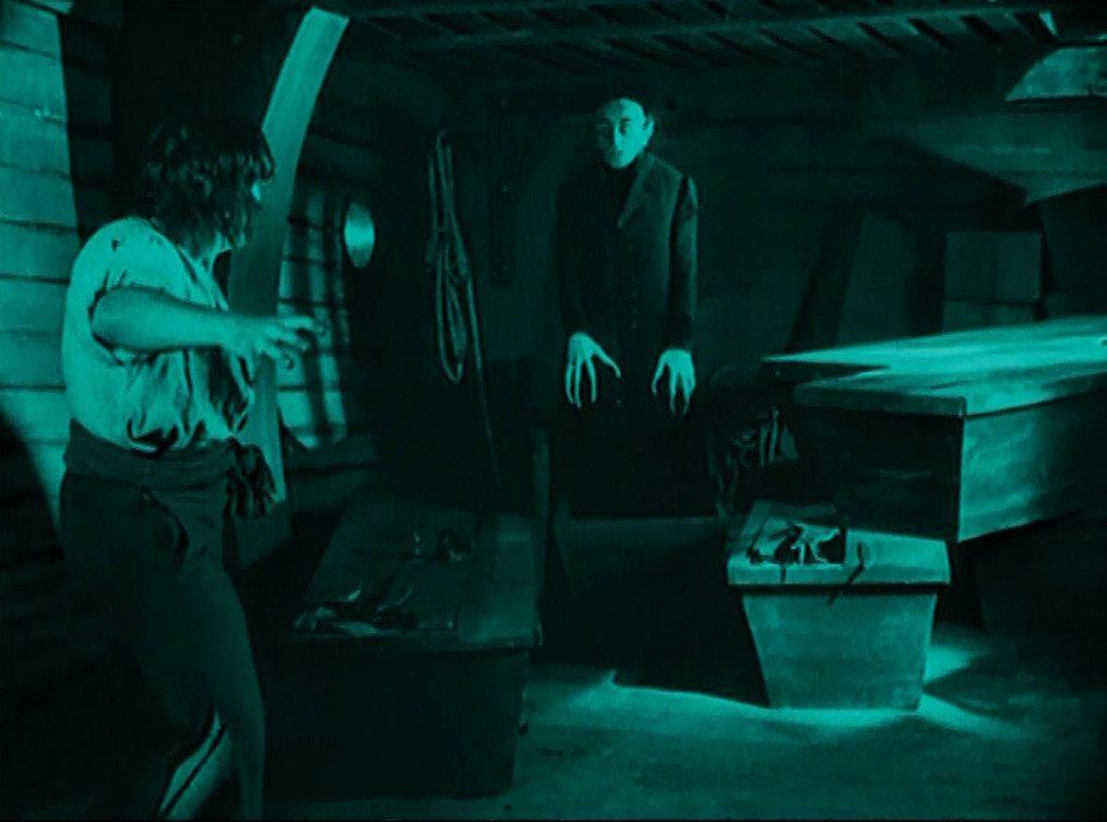 Orlok rises from his coffin in Nosferatu