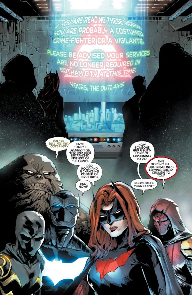 Red Hood and the Outlaws #15: written by Scott Lobdell, art by Dexter Soy, colors by Veronica Gandini, letters by Taylor Esposito