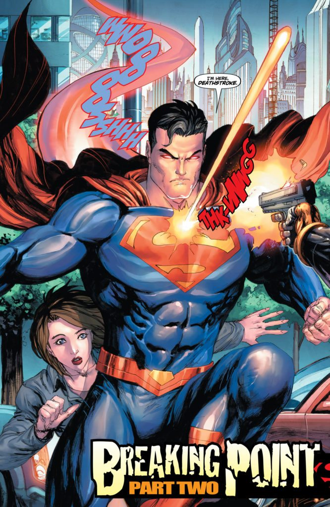 Superman #32: written by James Bonny, art by Tyler Kirkham, colors by Arif Prianto, letters by Dave Sharpe