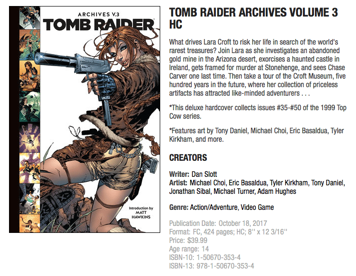 Screen Shot TOMB RAIDER ARCHIVES VOLUME 3 HC, Dark Horse.com
